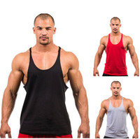 gym vests men - 2015 Fitness Men Tank Top Singlet Bodybuilding Stringers Undershirt Clothes Golds Gym Vest Muscle Shirt Regata Masculina DHL free