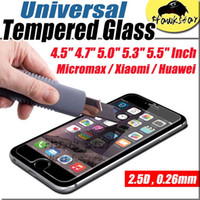 Wholesale tempered glass universal protective film inches screen protectors micromax xiaomi huawei quot quot quot quot quot cell Phone