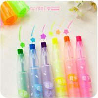 Wholesale 2015 newest pieces colors fluorescent pen highlighter pen mark pen Promotion Gift Fashion Style