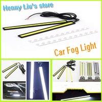 Cheap 1pair 2pcs Car Light 12V LED COB Car Auto DRL Driving Daytime Running Lamp Fog Light Drop Shipping Wholesale