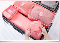 Wholesale 2015 Factory Cheap Multifunctional Storage Bags set Travel Pouch Useful Waterproof Breathable Bags Cosmetic Makeup Clutch bags