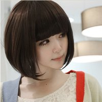 Cheap 2014 cheap Promotion Synthetic Short Straight Wig Bobo Wig For Girls