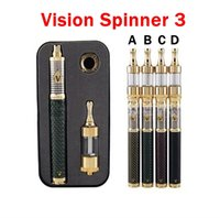 Wholesale 2015 Newest Carbon Spinner III Starter Kit mAh Vision Spinner Variable Voltage V Vision Spinner III E Cig Kits match protank