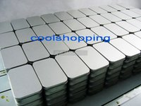 tin box - 100pcs DHLPlain silver tin box cm x cm x cm rectangle tea candy business card usb storage box case