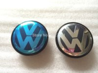 Wholesale Car styling mm PLASTIC VW wheel center hub cap cover sets Fits For Volkswagen BORA JETTA PASSAT LOGO
