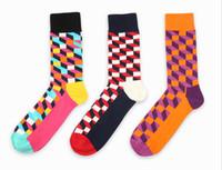 Wholesale Men women s Classic style happy socks calcetines huff style Gradient Color long cotton Socks socks for men brand elite socks