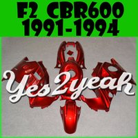 Cheap Yes2yeah ABS Fairing For CBR 600 91-94 F2 CBR 600 1991-1994 All Red H21Y175