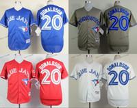 Baseball Men Short toronto blue jays #20 josh donaldson 2015 Baseball Jersey Cheap Rugby Jerseys Authentic Stitched Free Shipping Size 48-56