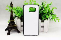 Wholesale S6 PC DIY sublimation Blanks case with metal inserts and tape For S6