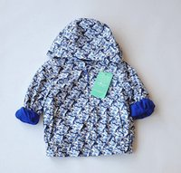 Wholesale fashionable joker tide French Brand T Little Boys and Girls Hooded Zip Up Coat w l kids Full of tiger head printing