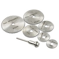 Wholesale 6x Durable HSS Rotary Tool Accessory Kit Circular Disc Saw Blades Mandrel