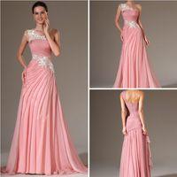 Wholesale Vestidos De Gala Dress Party Evening Elegant Appliques One Shoulder Long Women Summer Evening Dress XL