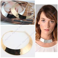 polished rocks - New Fashion women Chic Polish Choker Collar Necklace Bib Torque Torc Chain Catwalk Goth Punk Rock