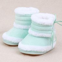 Wholesale Lovely Baby Snow Shoes Infant Kids Girl Winter Ankle Boots Shoe Velvet Plush Soft Warm Foot Toddler Months Footwear