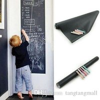 Wholesale pack Creative Chalkboard Wall Sticker Removable Blackboard Decals Magnetic WallPaper Promotion A5