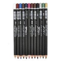 Wholesale M N Super Warweproof Eyeliner Colors Makeup Pencils Beauty Cosmetic Eyeliner Pencil Colors Set