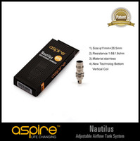 Cheap 100% Authentic Aspire BVC Coils for Aspire Nautilus Atomizers wholesale DHL free shipping