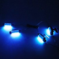 Wholesale GPS High Quality Blue in1 V x LED car Interior light Decorative Atmosphere Light Lamp