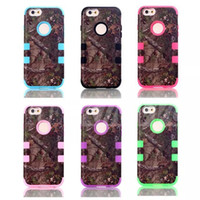 Wholesale New Arriver Glass Camo Defender Realtree Hard Back Cases For Iphone s Waterproof Shock Proof Mobile Phone Hybrid Silicone Colors