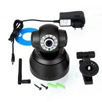 Wholesale 1pcs LED WIFI Wireless Black Camera Night Vision IP Webcam