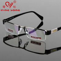 Wholesale Titanium Alloy Non spherical Reading Glasses Strength Dad s Gift