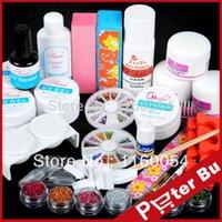acylic powder - Full Acrylic Powder Glitter acylic Liquid UV gel primer Tools Nail Art Kit304