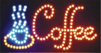 business open sign - 2016 Open Coffee Led Neon Business Motion Light Sign On off with Chain inch
