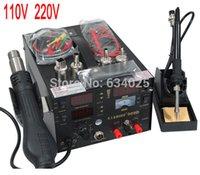 Cheap 220V 110V Saike 909D 700W 3 In 1 Lead-free Digital Hot Air Heat Gun Electric Soldering Iron Desoldering Solder Station