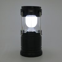 Cheap G-85 6 LED Solar Camping lamp Outdoor Lighting Portable Camp Tent Lamp Rechargeable lantern 3*1.5V AAA Batteries
