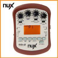 Compra Afinación marrón-Accesorios de múltiples funciones de las piezas de la guitarra del efecto de la guitarra acústica de Brown NUX PA-2 18 tipos de preset dos modos de adaptación 20pcs / lot DHL