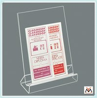 acrylic tabletop display - Tabletop Acrylic Books Display Stand Plastic Book Display Stand
