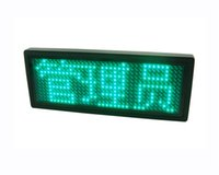 led signs - Mini LED Display Scrolling Programmable Message USB Led Name Badge Sign Multi Color for choose