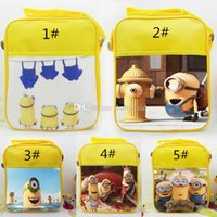 Wholesale 2015New Children School Bags Minions Backpacks Bag cartoon Schoolbag Fashion One Shoulder Baby Bags Christmas Gift