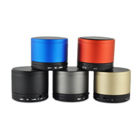 Wholesale HOT S10 Mini Wireless Stereo Bluetooth Speaker Metal Compact Bluetooth V3 Mini Speakers Speakerphone for iPhone Samsung PC with no logo
