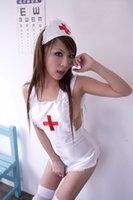 sexy nurse uniform - Sexy Nurse Costumes for women temptation lovely maid uniforms Hotel cosplay girl short Dresses Three piece set Sexy lingerie