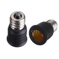 Cheap Hot Sale E12 to E14 Base LED Bulb Lamp Holder Light Adapter Socket Converter Black