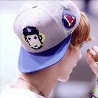 mlb caps - Exo mlb hip hop baseball cap flat hat along cartoon hiphop cap ny