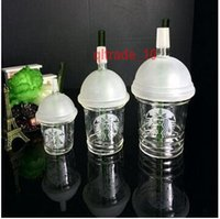 Wholesale 80 BBA5647 Glass Bong Starbucks Rig Dabuccino Cup Oil Rig Glass Water Pipes Joint Size CM starbucks cup glass water Cup bong Starbucks