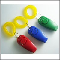 dog repeller - 2 in Amazing Pet Dog Training Clicker Whistle Combination Trainer Click Aid Repeller