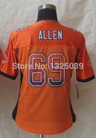 allen fashion - Factory Outlet Women Jared Allen Jersey Drift Fashion Orange Lady Elite Football Jersey New Best Quality Authentic Jersey