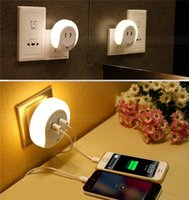 bathroom choice - Smart Design LED Night Light with Light Sensor and Dual USB Wall Plate Charger Choice for Bathrooms Bedrooms Light with Charger