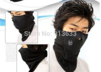 Wholesale 2pcs In stock New Paintball Bicycle Motorcycle Ski Winter Warm Neck Half Face Mask Black face ski mask
