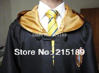 Wholesale Cosplay party Harry Potter Costume Hufflepuff Adult Cloak Robe Cape Halloween Gift cosplay