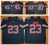 archie manning jerseys - 2015 New Style Ohio State Buckeyes Archie Griffin Lebron James Eddie George Jersey BLACK NCAA College football Jerseys