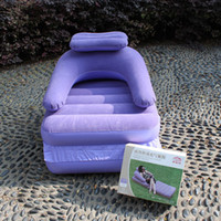 Wholesale multi function Inflatable Pull Out Chair Dorm Sofa Bed Foldable Sleeper Mattress Air Couch BeanBag Garden