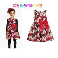 minnie dress - Baby girls minnie dress cartoon dress TUTU dress Girls Minnie Bow Dress children clothes C001