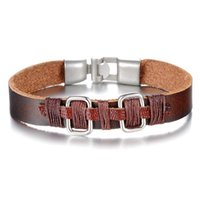 best del - Brown Leather Bracelets Bangles Best Seller Fashion Men s Jewelry Los Juegos Del Hambre Leather Bracelet Men Jewelry