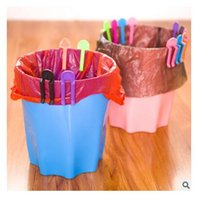Wholesale Dhgate Practical Garbage Bag Fixed Clip Trash Can Clip trash pack holder kitchen organizer Decoration accesories clip R1615