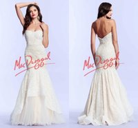 Cheap Real Image Sexy Mermaid Evening Gowns Sweetheart Backless Pleats Peplum Chapel Train Lace Evening Dresses 2015 New Prom Pageant Dress