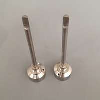 Wholesale Domeless Titanium nail titanium Ti Nail Male Female Carb Cap Dabber Grade VS Ceramic Nails Quartz Nai Glass water pipe Pong